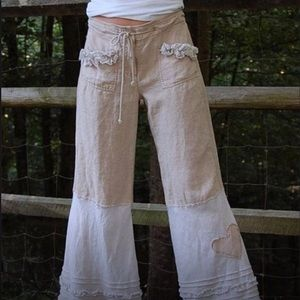 Brand New Casual Linen Loose Wide Leg Trousers